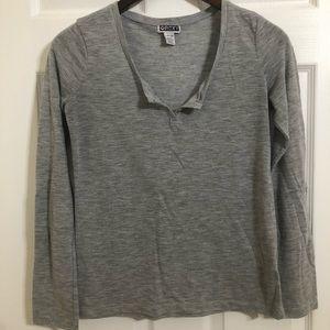 Roxy Shirt Grey Size Small Long Sleeved